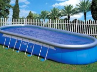 Large inflatable pool for the company