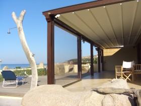 Modern canopy on the terrace