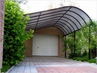 Creative form of canopy for cars