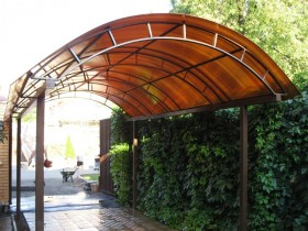 A canopy made of polycarbonate