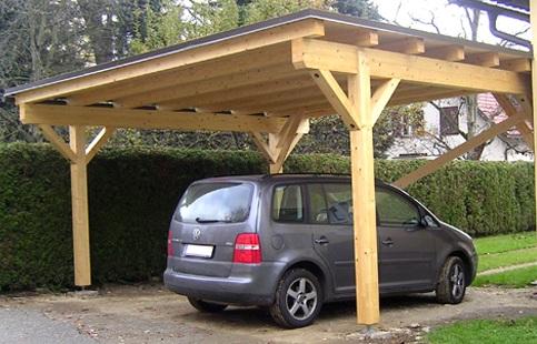 Навес для авто на даче своими руками из дерева