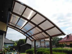 A canopy made of polycarbonate to give