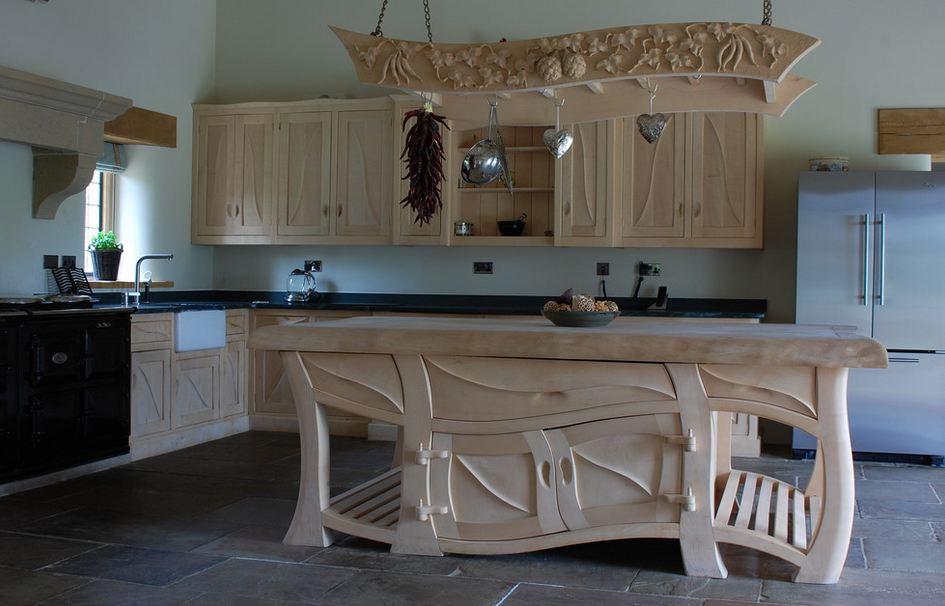 Деревянная кухни своими руками