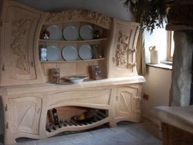 Дизайн резной деревянной кухни
