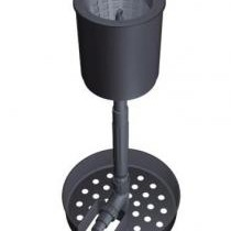 A skimmer on a fixed stand