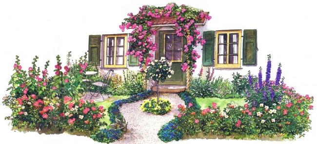 Идея романтического палисадника на даче