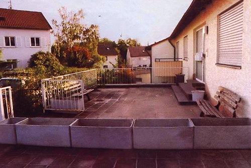 Исходный вариант площадки перед домом