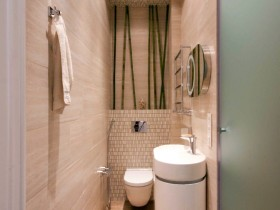 Design narrow bathroom