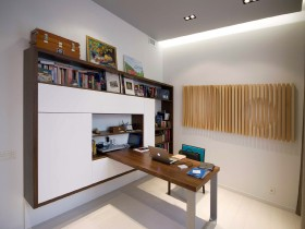 Modern personal office interior in bright colors