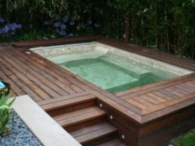 Design by the outdoor pool
