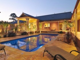 Outdoor pool for summer