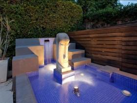 Оформление бассейна на даче
