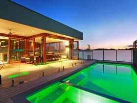 Outdoor pool with the original lighting