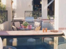 Ідэя дызайну басейна на дачным участку