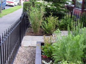 Front garden with fencing