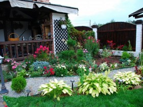Beautiful garden at the cottage