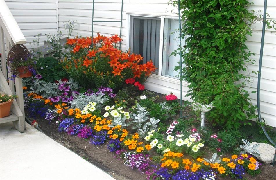 Как сделать красивую клумбу перед домом