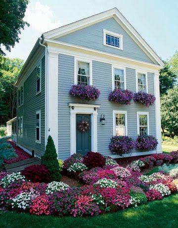 Фото дизайна палисадника перед домом