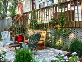 Patio porch garden