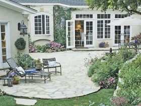 Simple patio at the cottage