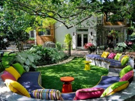 The idea of design garden patio