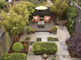 Patio modern garden