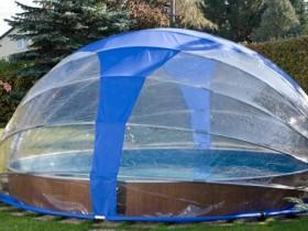 Танны варыянт павільёна для басейна з поліэтыленавай плёнкі