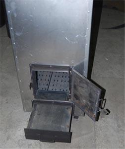 Топливник и зольник в печи