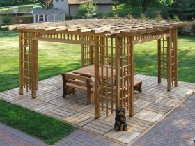 The design of the pergola
