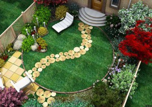 How to realize a visual increase of small garden design narrow land?