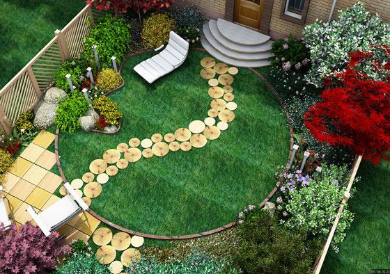 Планировка небольшого сада