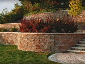 Retaining wall with their hands