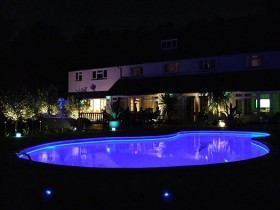 What fixtures are needed to illuminate the pool at night?
