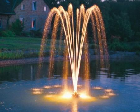 Подсветка струи фонтана