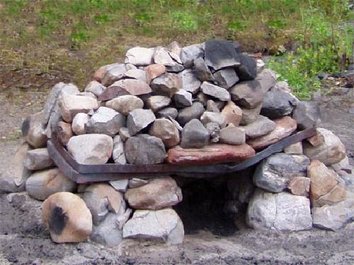 Походная печка для бани