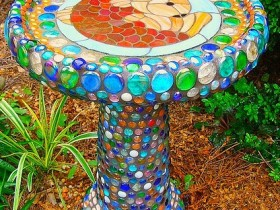 Birdbath in the Moorish style