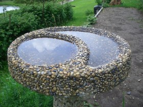 Beautiful birdbath