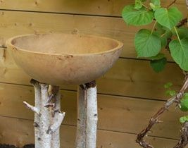 Birdbath with your own hands