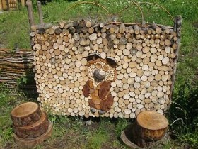 A beautiful woodpile in the country