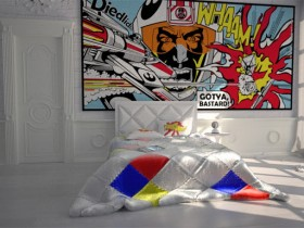 Unusual bedroom design pop art