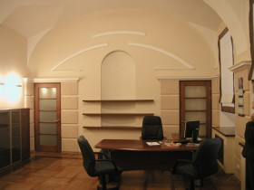 Interior of the private office with elements of postmodernism