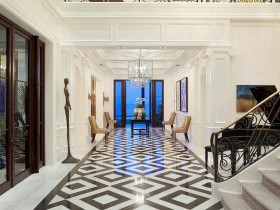 Elite white hallway in the cottage