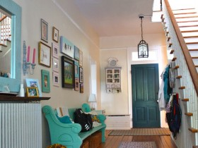 Bright interior hallway in the style of kitsch