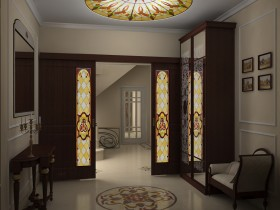 Beautiful interior a large entrance hall