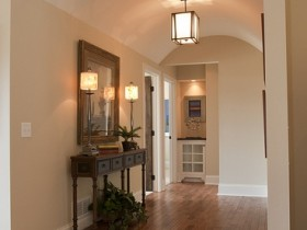 Bright entrance hall in a private house