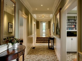 A long hallway in the cottage