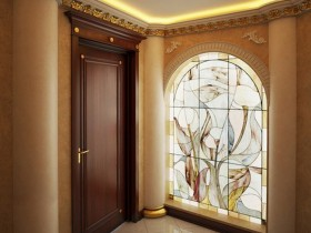 Beautiful entrance hall with concealed ceiling lighting