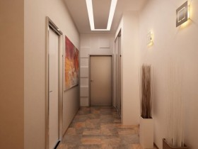 Modern bright hallway in the apartment