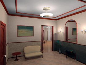 The design of the project hallway in the apartment