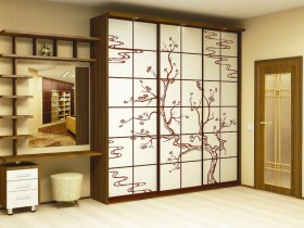Entrance hall with wardrobe in the Chinese style